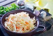 Sauerkraut salad in the bowl — Stock Photo