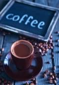 Coffee on the wooden table — Stock Photo
