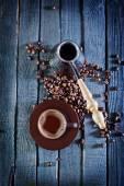 Café sur la table en bois — Photo