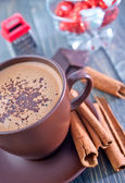 Cocoa drink in cup — Stock Photo