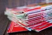 Stack of magazines — Stockfoto