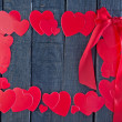 Red hearts from paper — Stock Photo #63955909