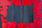 Red hearts from paper — Foto de Stock
