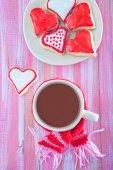 Cookies and cocoa drink — Zdjęcie stockowe