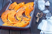 Pumpkin pieces with aroma spice — Stock Photo