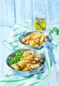 Fried potato in the pan — Stock Photo