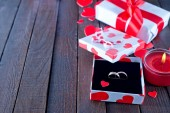 Ring in box for present — Photo