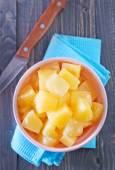 Pineapple in the bowl — Stock Photo