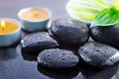 Black stones for spa — Stock Photo
