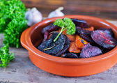 Baked beet and carrot — Stock Photo