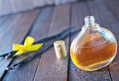 Perfume in glass bottle — Stock Photo