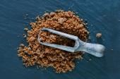 Reed sugar in spoon — Stock Photo