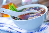 Miso soup in bowl — Stock Photo