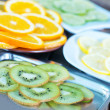 Kiwi and citrus slices — Stock Photo #67492751