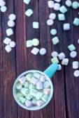 Cocoa with marshmallow in cup — Stock Photo