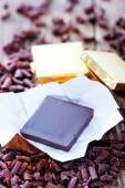 Chocolate candy in the foil — Stock Photo