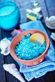 Jabón y sal marina — Foto de Stock