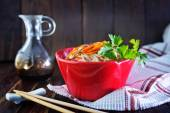 Rice noodles with meat — Stock Photo