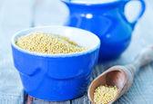 Millet porridge in bowl — Stock Photo