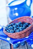 Fresh blueberry in basket — Stock Photo
