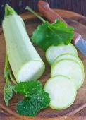 Fresh sliced marrow — Stock Photo