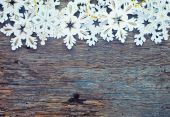 Jul bakgrund med snöflingor — Stockfoto