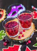 Christmas drink in glasses — Stock Photo