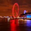 London Eye with cityscape — Stock Video #72674367