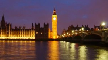Big Ben and Palace of Westminster — Stock Video