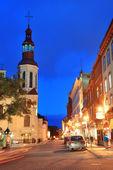 Quebec city gatan — Stockfoto