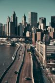 Manhattan financial district — Stock Photo