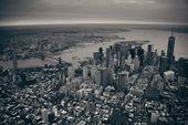 Manhattan aerial — Stock Photo