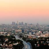 Los Angeles sunset — Stock Photo
