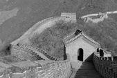 Grande muralha em preto e branco — Fotografia Stock