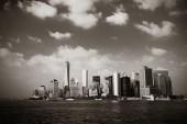 Panoramę centrum Manhattan — Zdjęcie stockowe