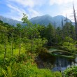 Azusa river and Hotaka mountains in Kamikochi, Nagano, Japan — Stock Photo #52329515