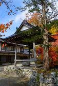 Historic Village of Shirakawa-go in autumn Akiba shrine — Stock Photo