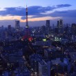 The city of Tokyo and Tokyo Tower Olympic illumination — Stock Photo #60691461