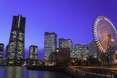 Skyscraper at Minatomirai, Yokohama in the twilight — Stock Photo