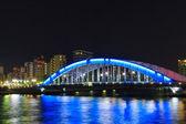 Eitai bridge in Tokyo at night — Stock Photo