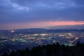 Landscape view from the Yabitsu pass at dusk in Kanagawa, Japan — Stock Photo