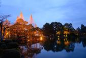 Kenrokuen Garden at night in Kanazawa, Japan — Stock Photo