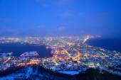 The city of Hakodate in the twilight — Stockfoto