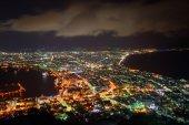 The city of Hakodate at night — Stock Photo