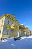 Oude openbare Hall van Hakodate Ward in de stad van Hakodate, Hokkaido — Stockfoto