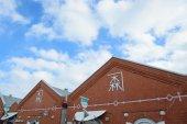 Kanemori Red Brick magazijn in Hakodate, Hokkaido — Stockfoto