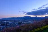 Landscape in the twilight at Seisho region, Kanagawa, Japan — Stock Photo