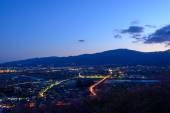 Night view at Seisho region, Kanagawa, Japan — Stock Photo