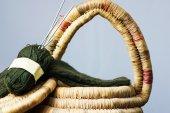 Knitting basket with Socks — Stock Photo