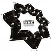 Abstract 3d mesh vector background, abstract conceptual illustra — Stock Vector
